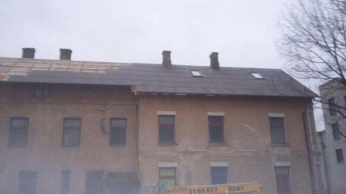 Katuse ehitus Viljandis. Paigaldasime ka katuseaknad.