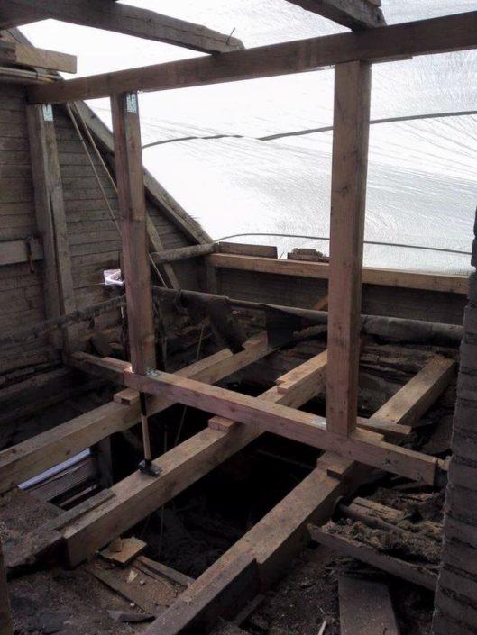 Vahetalade ja katuse ehitus
